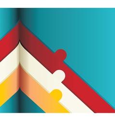 Modern Design template Numbered bannersCutout vector image