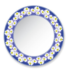 plate with daisies vector image vector image