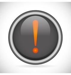 Attention sign isolated button icon vector image