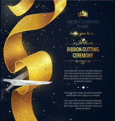 grand opening vertical banner text with confetti vector image
