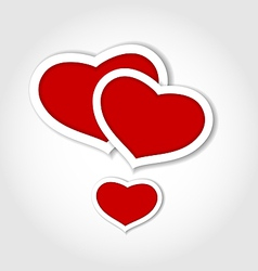 Hearts from paper Valentines day card vector image
