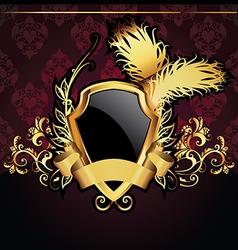 heraldic background vector image