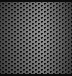 metal grid background with holes vector image vector image