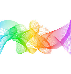 rainbow fractal background rainbow color lines vector image
