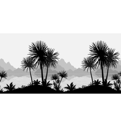 Seamless landscape palms sea and mountains vector image vector image