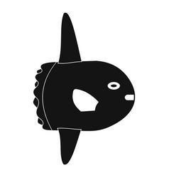 small fish icon simple style vector image