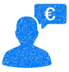 Euro user opinion grunge icon vector