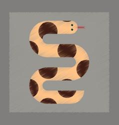 Flat shading style icon wildlife snake vector