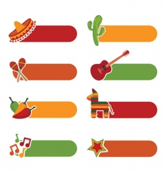 Mexican tabs vector image