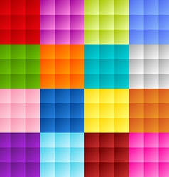 Patchwork square background vector image