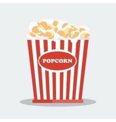 pop corn in red box vector image vector image