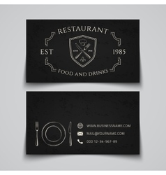 Restaurant business card template vector image