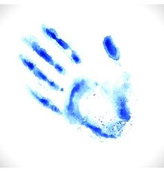 Watercolor hand print vector image