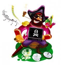 digital pirate vector image vector image