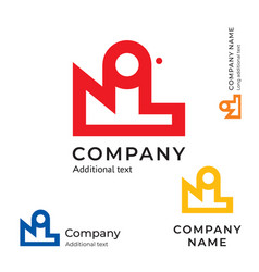 factory abstract logo modern simple and clean vector image vector image