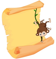 A monkey and paper sheet vector