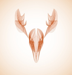 Abstract Deer vector image