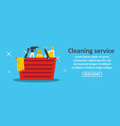 best cleaning service banner horizontal concept vector image