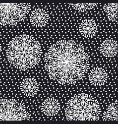 black and white abstract dandelion flowers vector image
