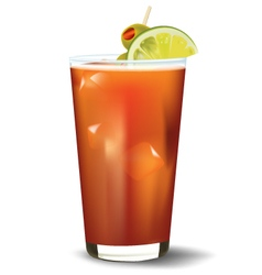 Bloody mary cocktail realistic vector image