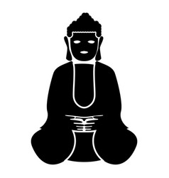 Buddha icon black color flat style simple image vector