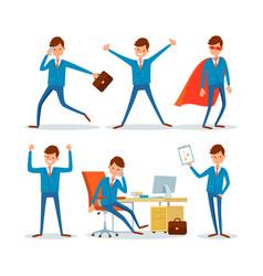 Business sphere businessman in office activities vector