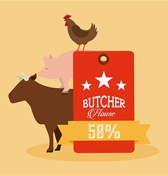 Butcher house vector