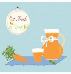 Carrot Juice Healthy Diet Organic Living Vitamins vector