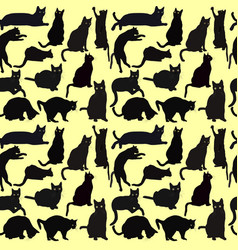 Cats seamless background vector