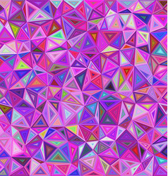 Colorful chaotic triangle mosaic background vector image