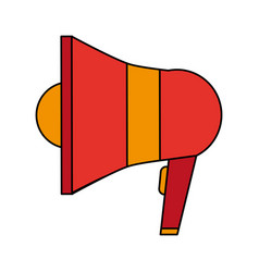 Colorful realistic image megaphone element sound vector