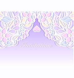 colorful wedding invitation vector image