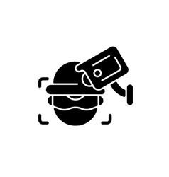 Criminal detection with surveillance camera black vector