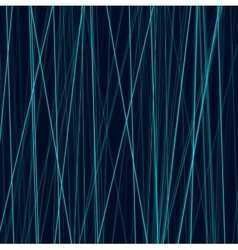 Cyan neon abstract lines on dark background vector