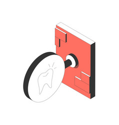 dental clinic signboard icon vector image