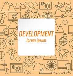 development outline icons set vector image