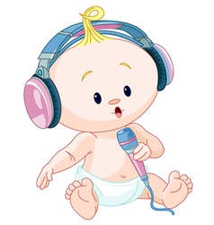 DJ baby vector