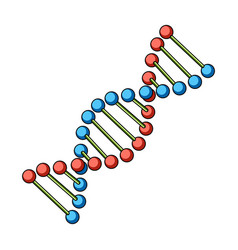 dna chainmedicine single icon in cartoon style vector image