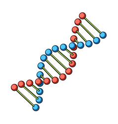 dna chainmedicine single icon in cartoon style vector image