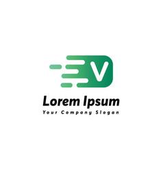 Fast letter v logo icon design vector
