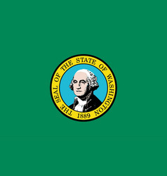 Flag of washington state vector
