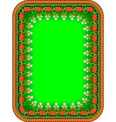 frame traditional Russian vector image