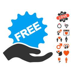 free present icon with lovely bonus vector image