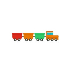 Freight wagons icon flat style vector