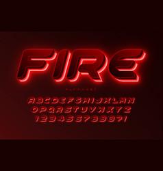 Futuristic sci-fi alphabet extra glowing space vector