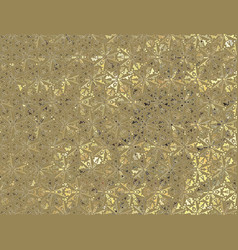 Gold abstract floral background vector