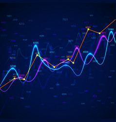 graphs and charts statistic data financial report vector image