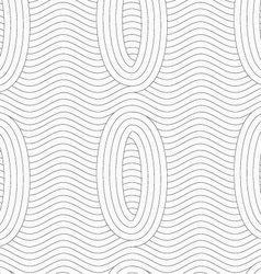 Gray ovals merging with continues lines vector