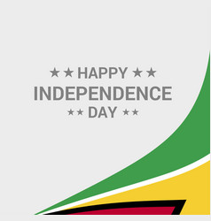 Guyana independence day typographic design with vector
