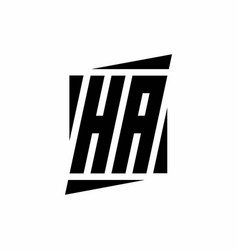 Ha logo monogram with modern style concept design vector
